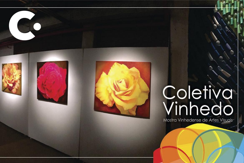 Coletiva Vinhedo, mostra de artes visuais, continua aberta para visitação